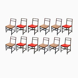 Rosewood Dining Chairs by Renato Venturi for MIM, 1960s, Set of 12
