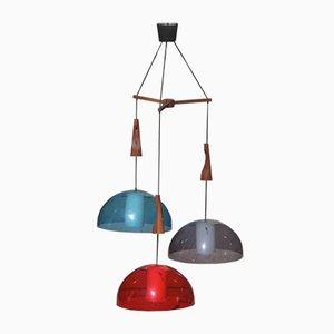 Lámpara de techo italiana Mid-Century de plexiglás de Guzzini, años 60