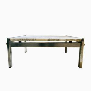 Tavolino da caffè rettangolare in marmo bianco, anni '70