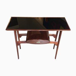 Konsolentisch aus Holz mit ovaler Schublade, 1950er