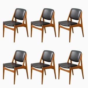 Model Ella Dining Chairs by Arne Vodder for Vamø, 1960s, Set of 6