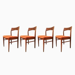 Dining Chairs by Henning Kjærnulf for Vejle Mobelfabrik, 1960s, Set of 4