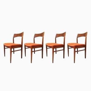 Sedie da pranzo di Henning Kjærnulf per Vejle Mobelfabrik, anni '60, set di 4