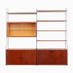 Libreria modulare in teak, anni '60