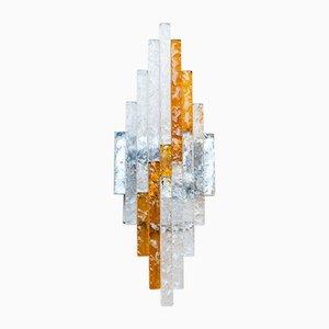 Vintage Glas Wandlampen von Albano Poli für Poliarte, 3er Set