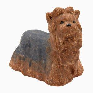 Figura de Yorkshire Terrier de porcelana de Maria Ericson para Jie Gantofta, años 80
