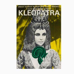 Póster de la película Cleopatra vintage de Jiří Hilmar, 1966