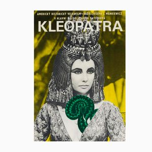 Vintage Cleopatra Movie Poster by Jiří Hilmar, 1966