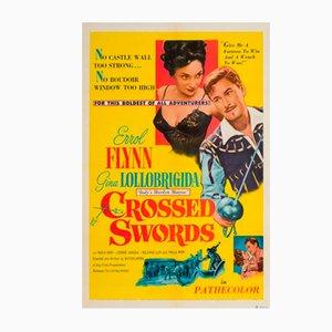 Affiche Vintage du Film Crossed Swords Vintage, 1953