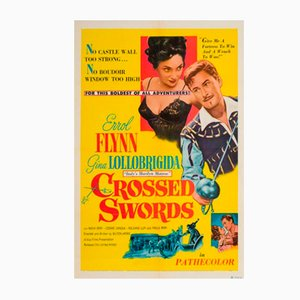 Vintage Crossed Swords Filmposter, 1953