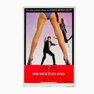 Poster vintage del film Solo per i tuoi occhi, 1981