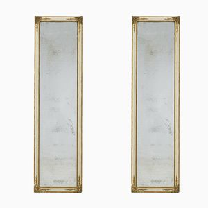 Large French 19th Century Paint & Gilt Mirrors, Set of 2