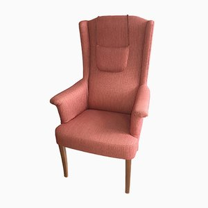 Swedish Wingback Chair by Carl Malmsten, 1950s
