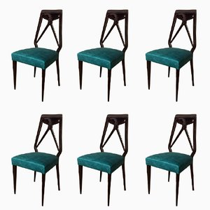 Mid-Century Dining Chairs by Vittorio Dassi, Set of 6