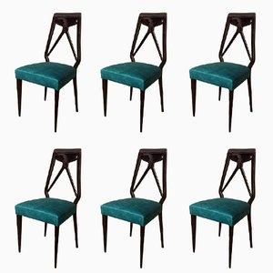 Mid-Century Esszimmerstühle von Vittorio Dassi, 6er Set