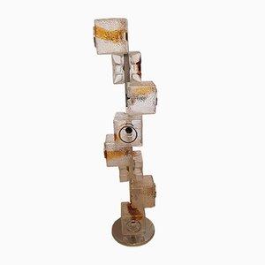 Lampada da terra grande ad otto cubi di Toni Zuccheri per Mazzega, Italia