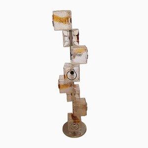 Lámpara de pie 8-Cube italiana grande de Toni Zuccheri para Mazzega