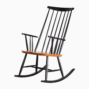 Vintage Scandinavian Rocking Chair by Roland Rainer for 2K, 1960s