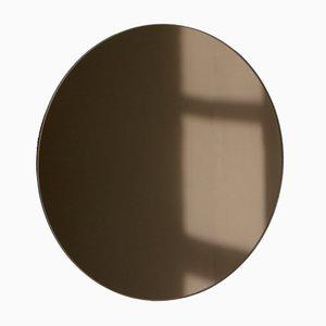 Petit Miroir Rond Teinté Bronze par Alguacil & Perkoff Ltd