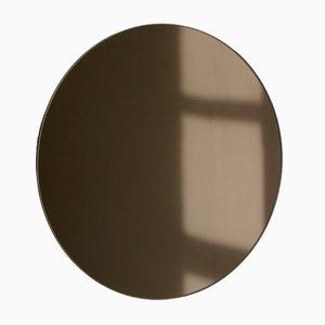 Kleiner runder bronzefarbener Orbis Spiegel von Alguacil & Perkoff Ltd