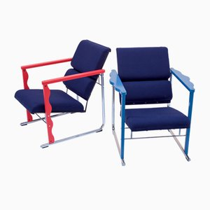 Chaises Experiment Vintage par Yrjo Kukkapuro pour Avarte, 1970s, Set de 2