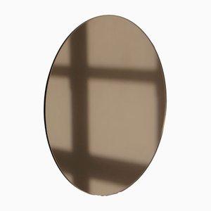 Großer runder bronzefarbener Orbis Spiegel von Alguacil & Perkoff Ltd