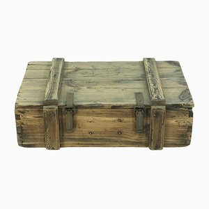 Antique Wooden Trunk, 1900s