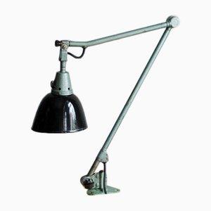 Lámpara de trabajo grande en turquesa de Curt Fischer para Midgard, años 30