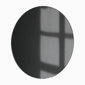 Runder mittelgroßer schwarz getönter Orbis Spiegel von Alguacil & Perkoff Ltd