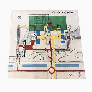 Wool Chandigarh Capitol Rug by Le Corbusier, 1970s
