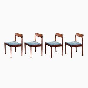 Dänische Mid-Century Esszimmerstühle aus Palisander, 4er Set