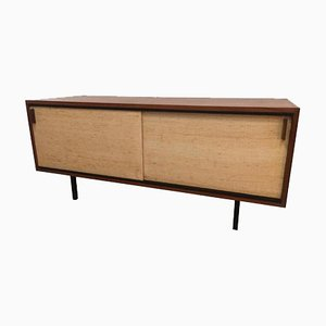 Rosewood & Cane Sideboard by Dieter Wäeckerlin for Idealheim, 1950s