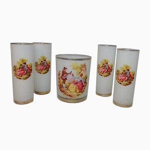 Vintage Eiskübel & Gläser Set