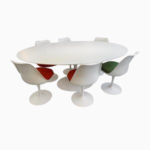 Laminate Tulip Dining Set by Eero Saarinen for Knoll, 1980s