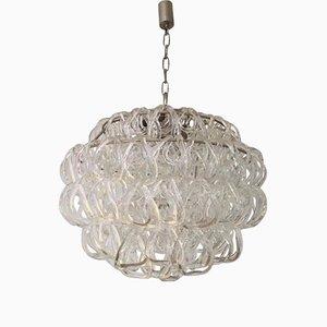 Lámpara de araña Giogali de vidrio de Angelo Mangiarotti para Vistosi, 1968