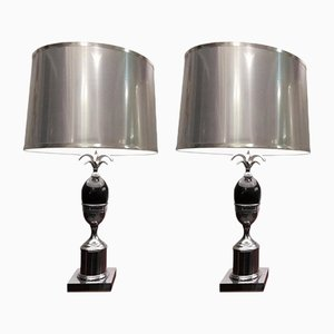 Vintage French Table Lamps, 1970s, Set of 2