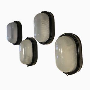 Vintage Bullseye Lampen von Prisma, 4er Set