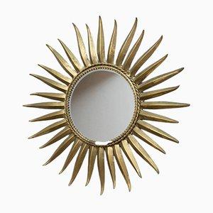 Französischer Spiegel in Sonnen-Optik, 1950er