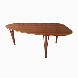 Mid-Century Cherry Tripod Coffee Table from Haslev Møbelsnedkeri, 1960s