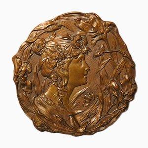 Jugendstil Wandrelief aus Bronze