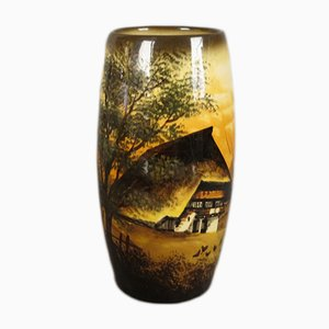 Handbemalte Jugendstil Vase von Schramberg