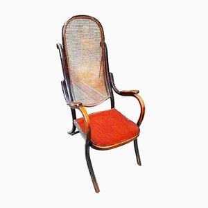 Antiker Nr. 6351 Armlehnstuhl aus Bugholz & Schilfrohr von Thonet