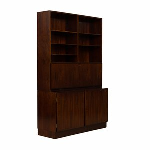 Rosewood Bookcase with Secretaire from Omann Jun, 1960s