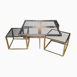 Tavolini a incastro di Maison Jean Charles, Francia, anni '70
