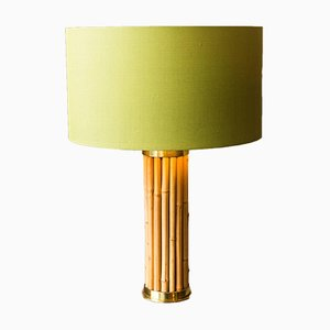 Italian Bamboo Table Lamp, 1970s