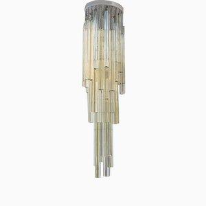 Lámpara de araña Trilobo italiana de Venini, años 70