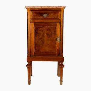 Antique Italian Nightstand with Marble Top