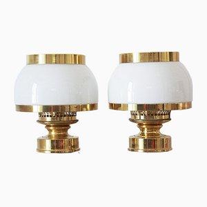 Vintage Tischlampen aus Messing, 2er Set