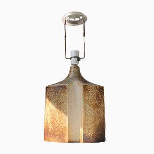 Dänische Vintage Tischlampe aus Steingut von Haico Nietzsche für Søholm, 1970er
