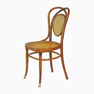 No. 33 Brass & Curved Wood Chair from Jacob & Josef Kohn, 1890s